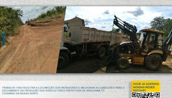 Secretaria de Infraestrutura e Agricultura, realizou a recuperação das estradas vicinais.